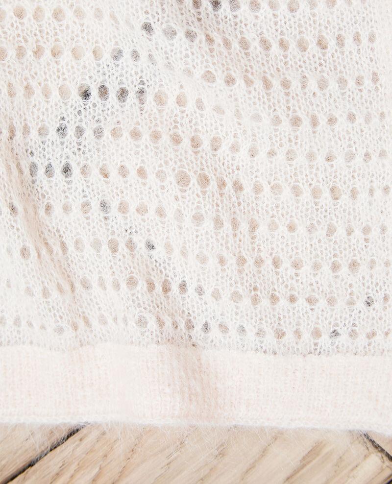Écharpe avec du mohair Light pink Imohair