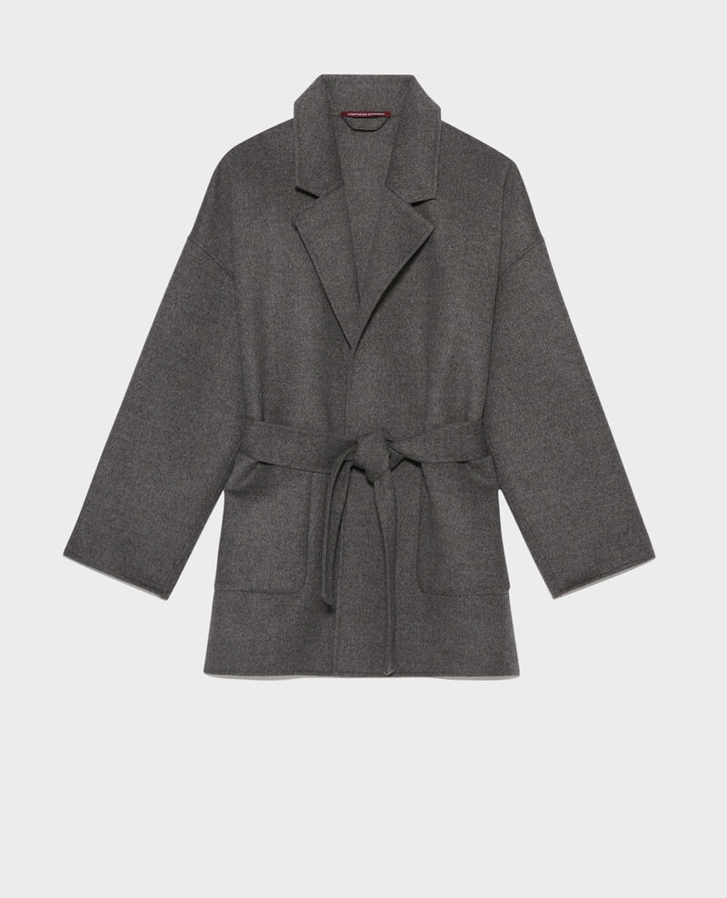Manteau en laine et cachemire double face Gris chine Pantin