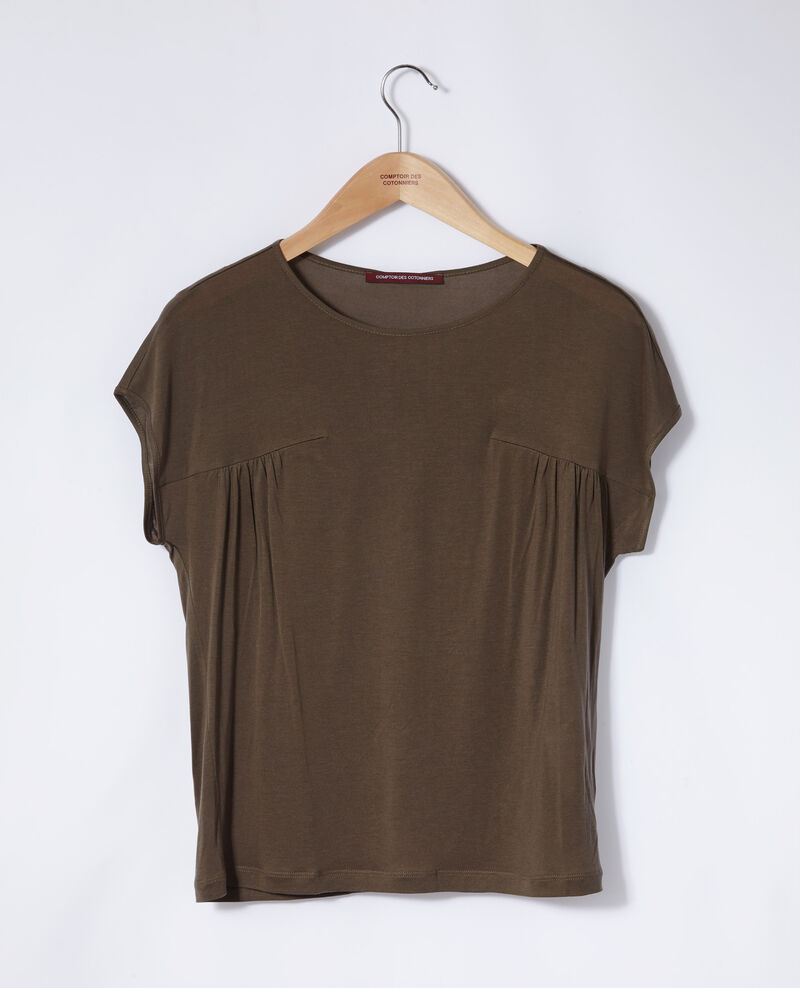 T-shirt col rond Olive night Gaillet