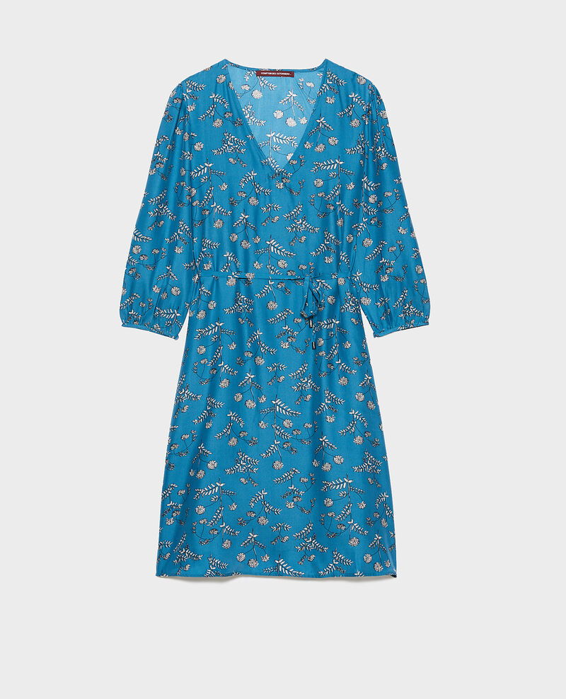 Robe ample en soie Coronille faience Novis