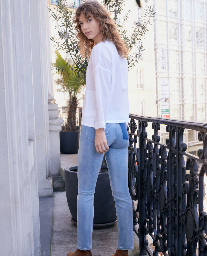 Jeans cigarette Fashion detail wash Fabuleux
