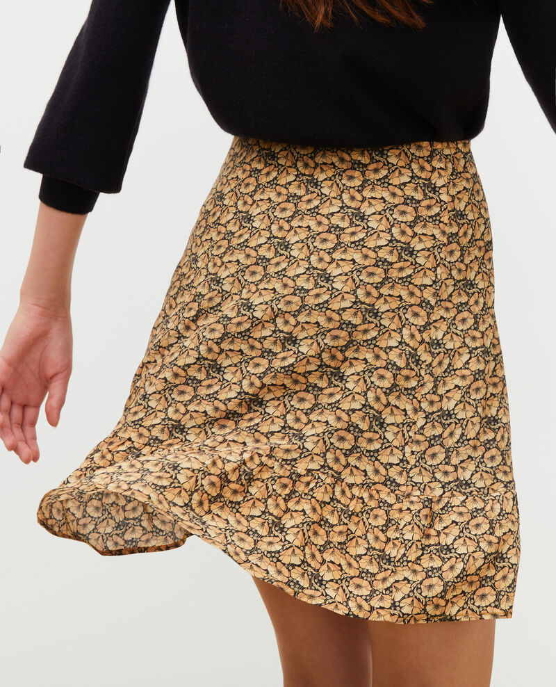 Jupe courte en soie imprimée Print artdeco lemoncurry Mada