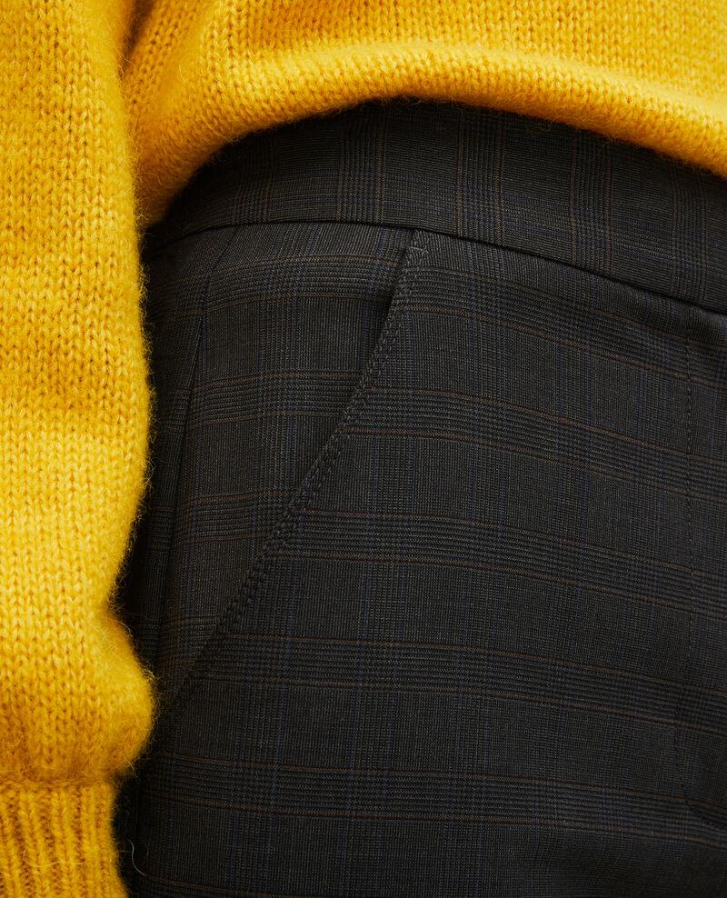 Pantalon MARCELLE, droit en laine prince de galles Check-wool-pattern-tailoring Misabien