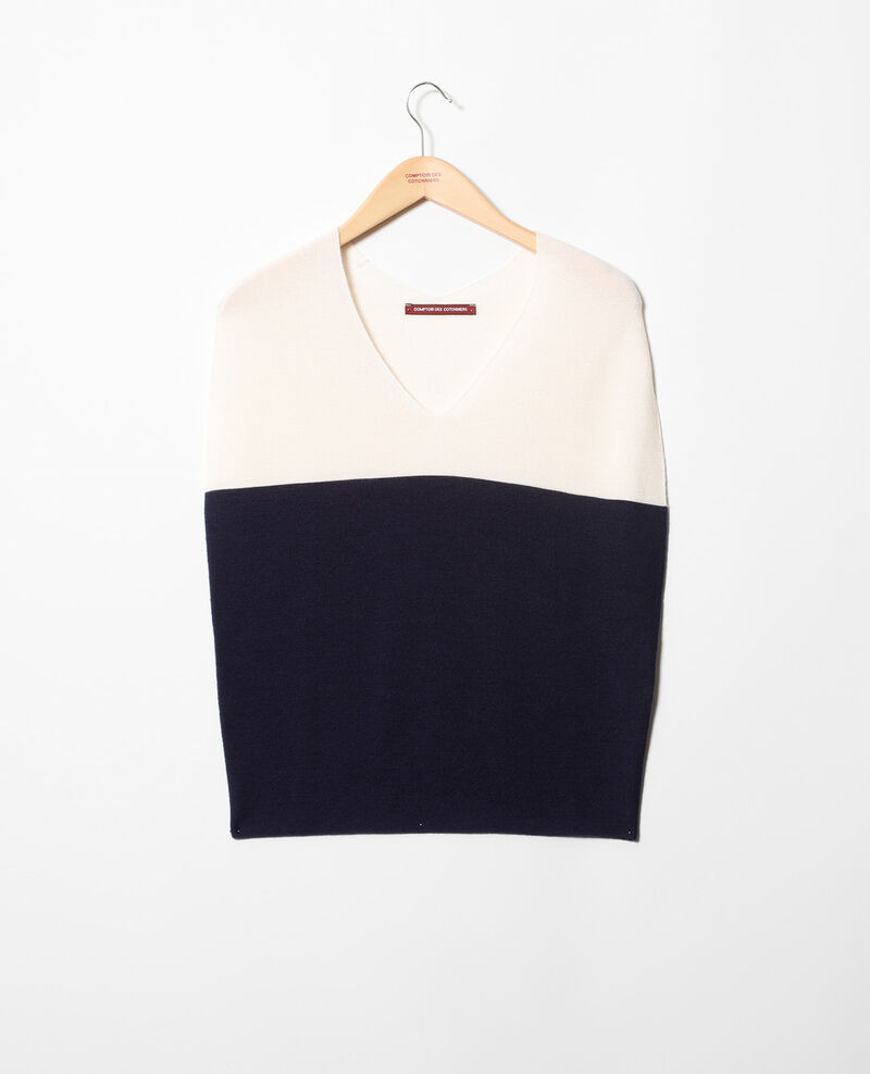 Pull 3D sans manches Champagne/navy Inigme