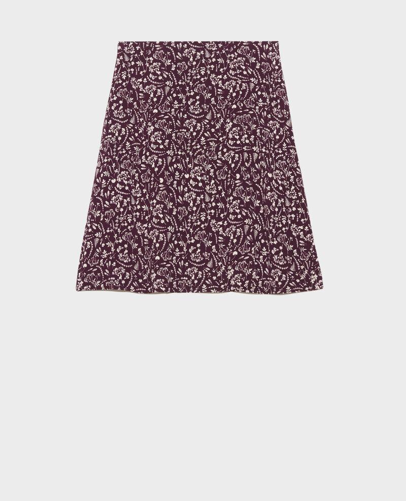 Jupe portefeuille imprimée Cyanotype purple Paline