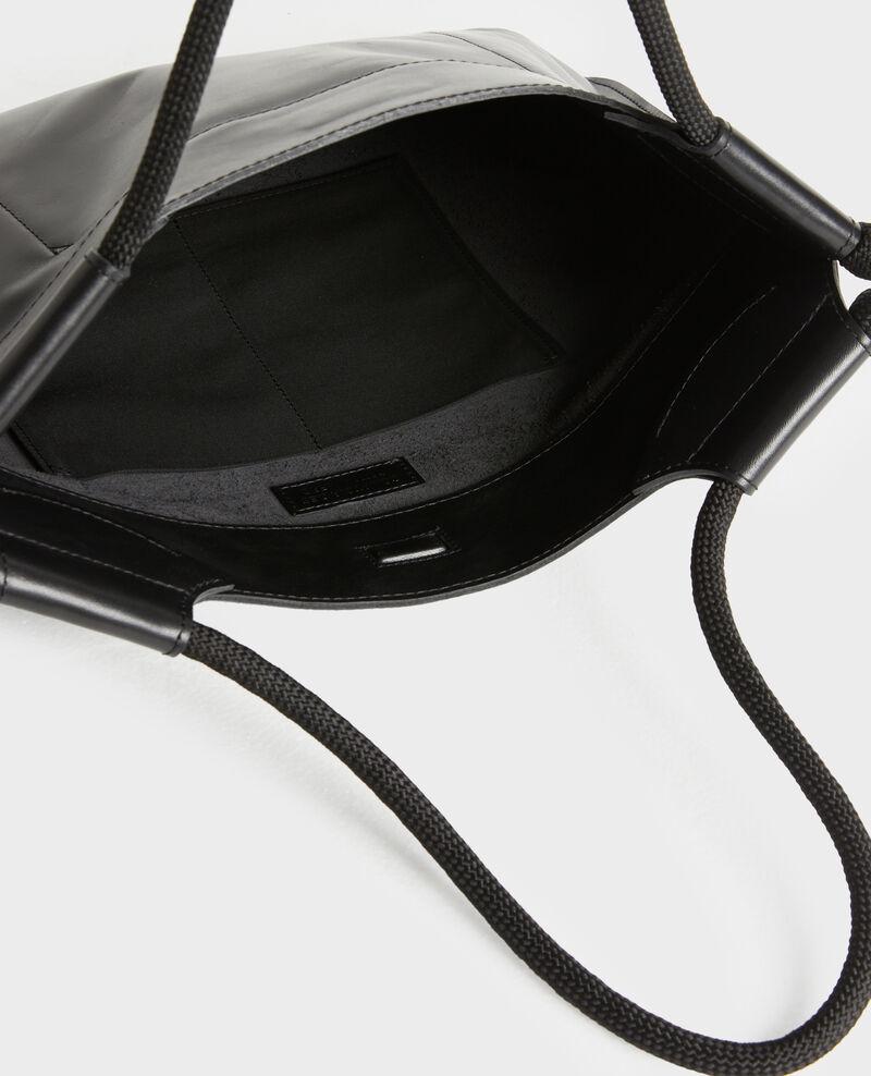 Cabas en cuir Black beauty Penmarch