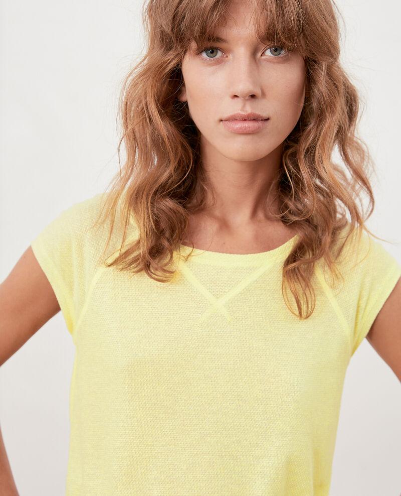 T-shirt irisé avec lin Lemonade Falexia
