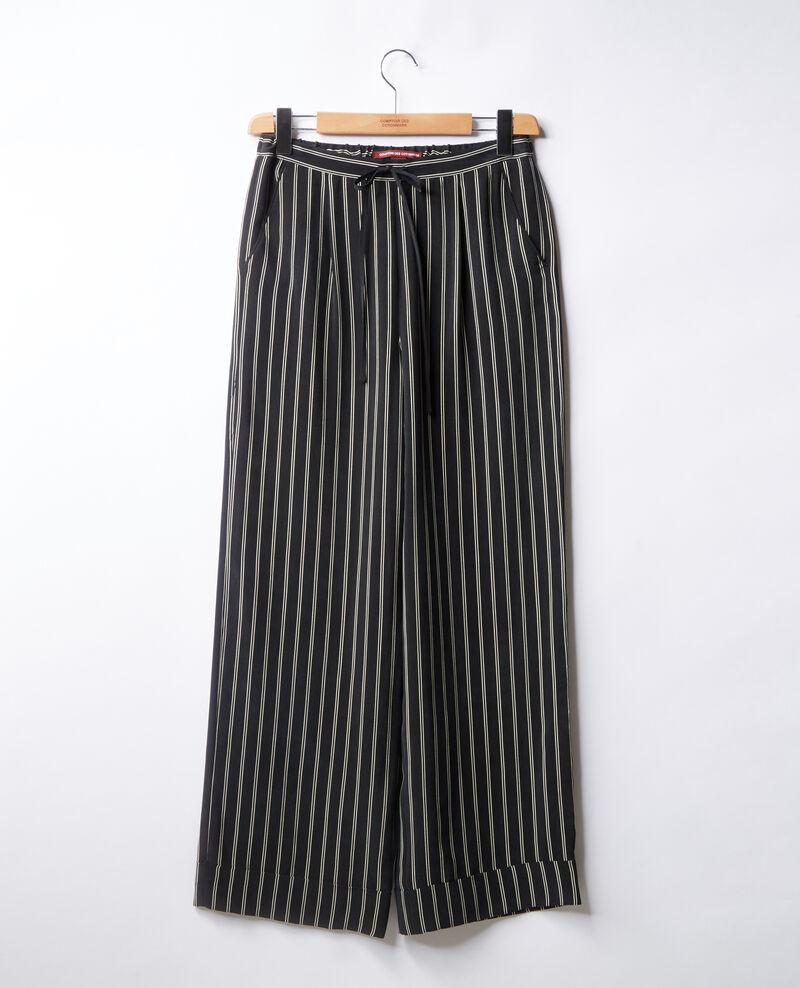 pantalon ample fluide ray pour femmes couleur black off. Black Bedroom Furniture Sets. Home Design Ideas