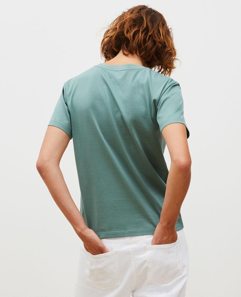 T-shirt coton manches courtes col rond Treillis Lirous