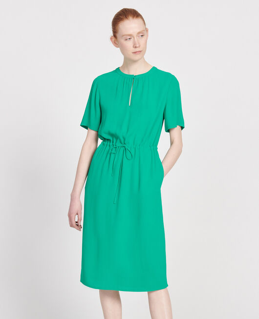 Robe fluide en viscose GOLF GREEN
