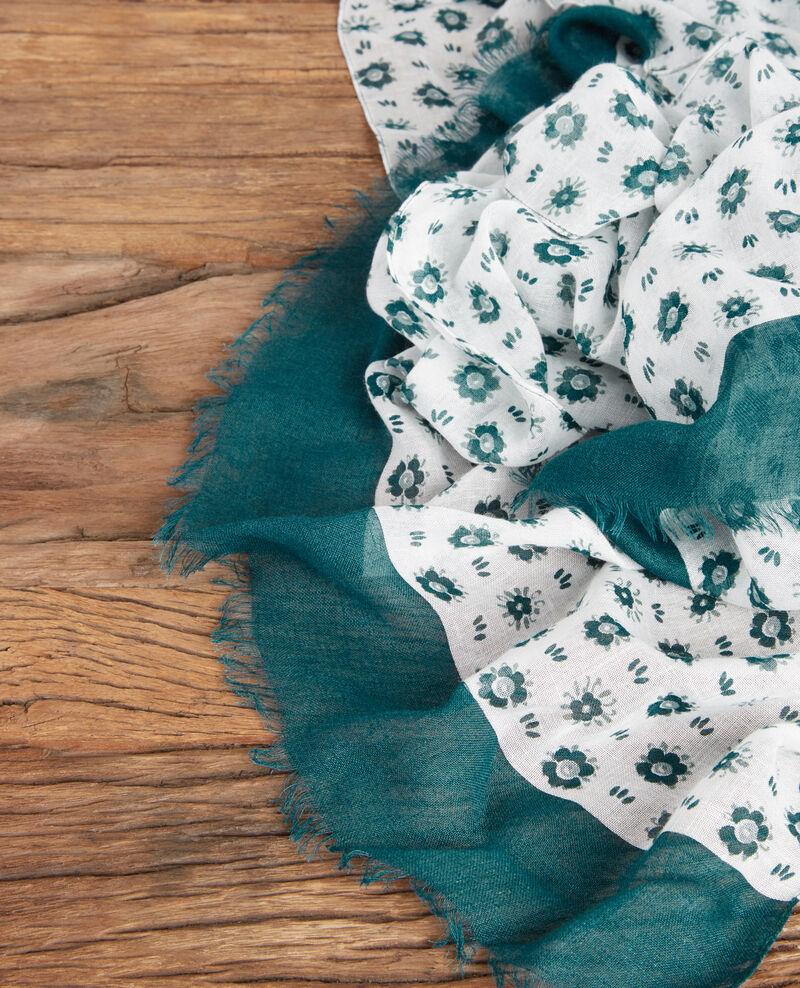 Foulard imprimé en modal et lin Dandelion kaolin Fandelion