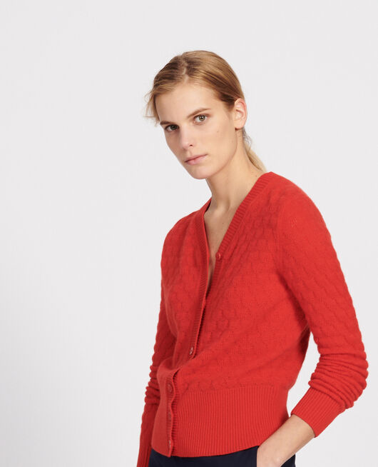 Cardigan en cachemire FIERY RED