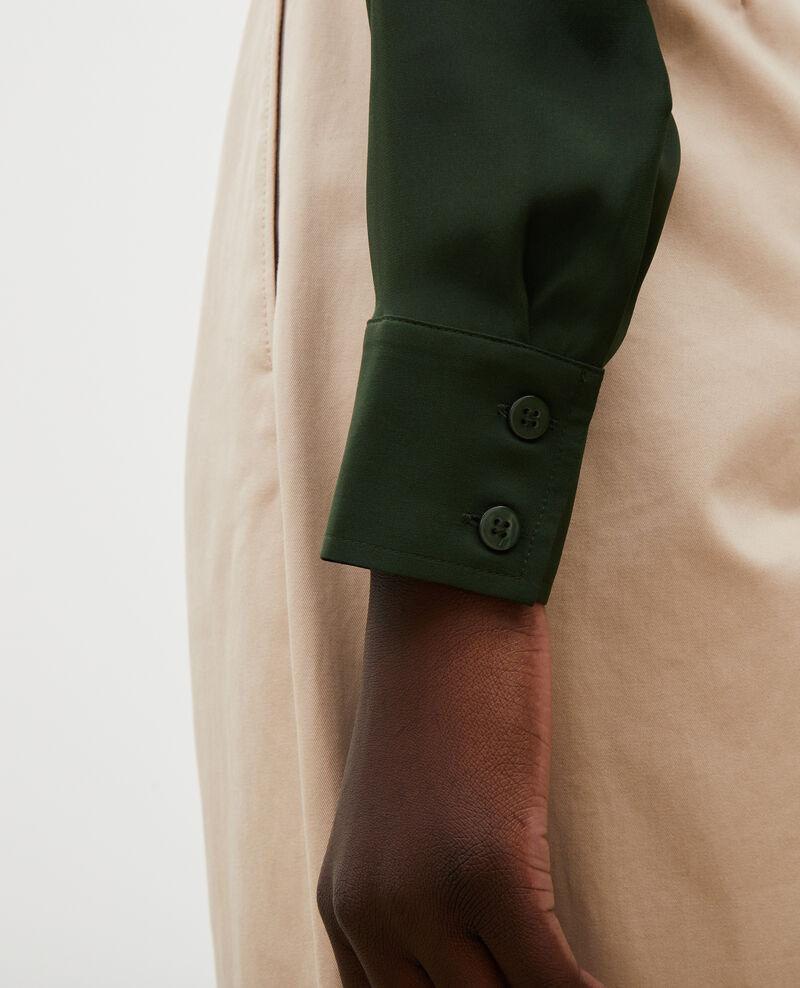 Chemise d'homme en soie manches longues Military green Moriges