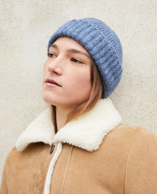Bonnet en maille ADRIATIC BLUE