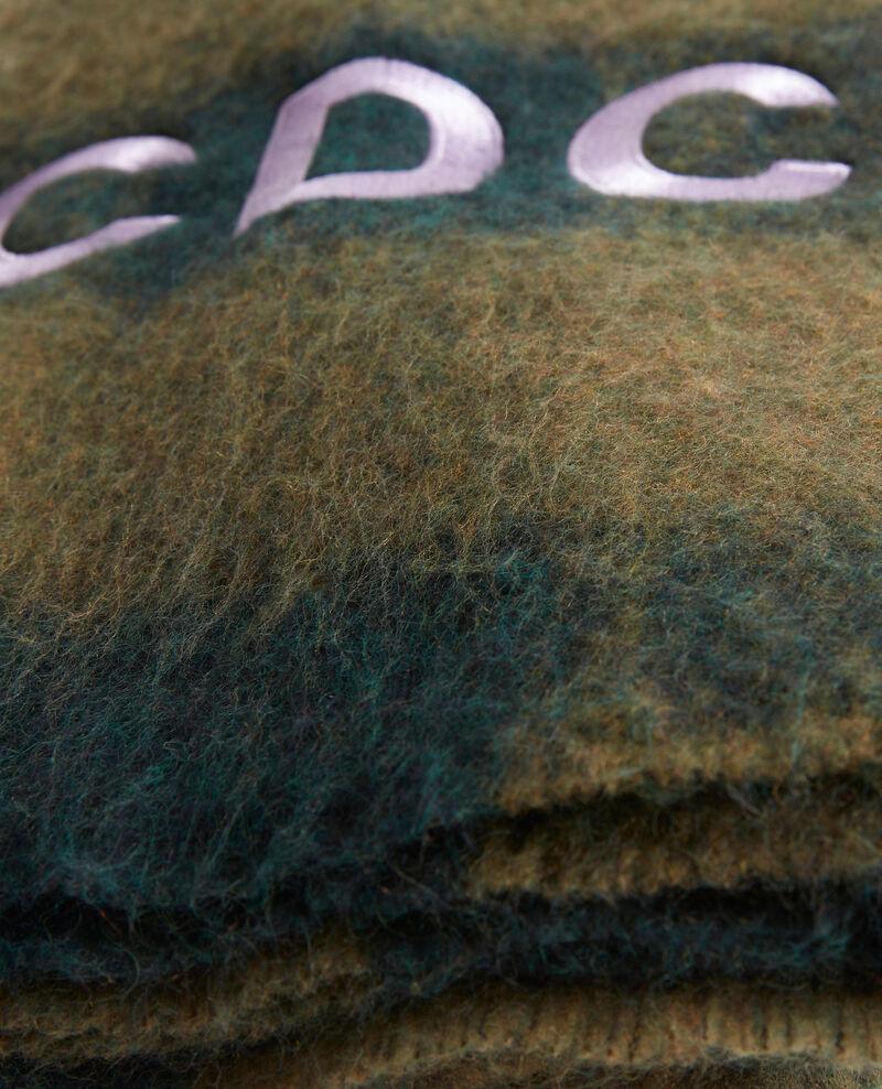 """Maxi écharpe en laine brodée """"CDC"""" Rain forest Maxou"""