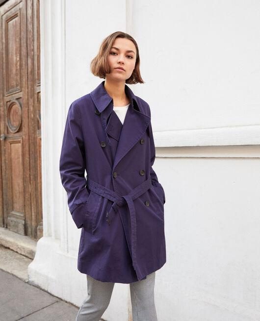 Trench intemporel court INK NAVY