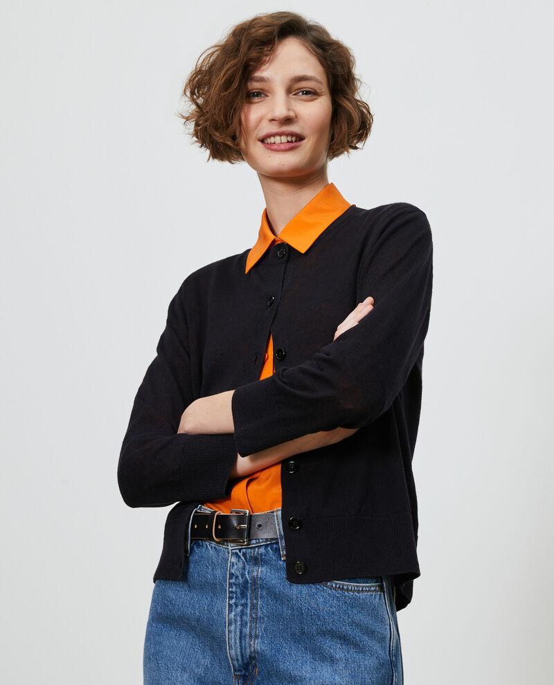 Cardigan en lin et coton bio Black beauty Lagardi