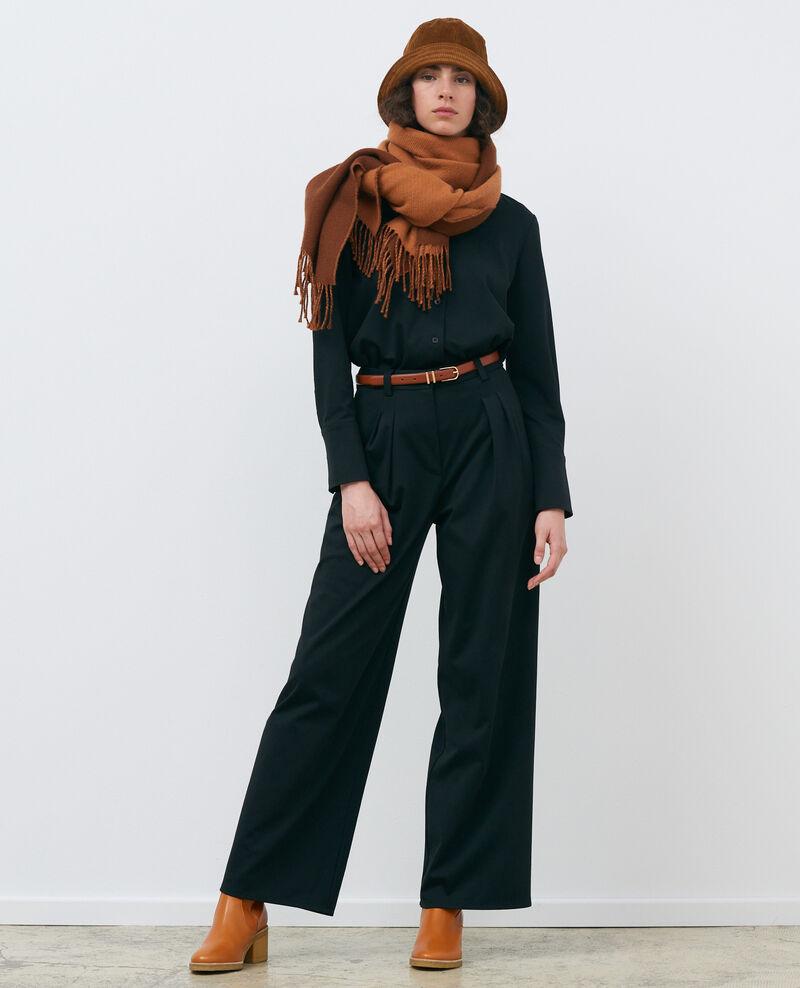 Pantalon YVONNE, large à plis Black beauty Pradus