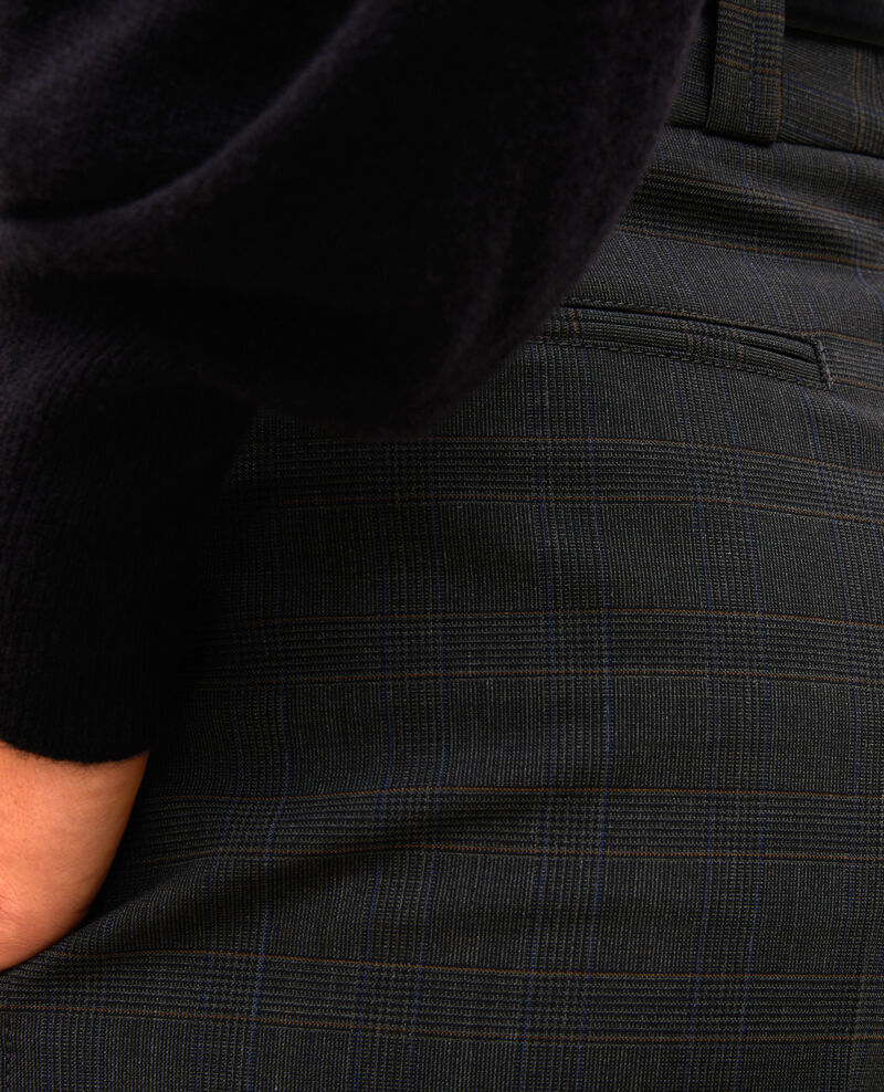 Bermuda ample en laine prince de galles Check-wool-pattern-tailoring Marcelcave