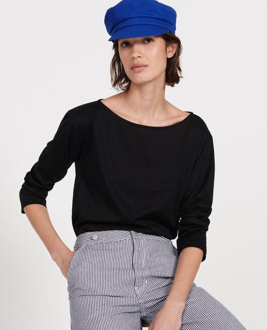 T-shirt coton manches longues col bateau BLACK BEAUTY