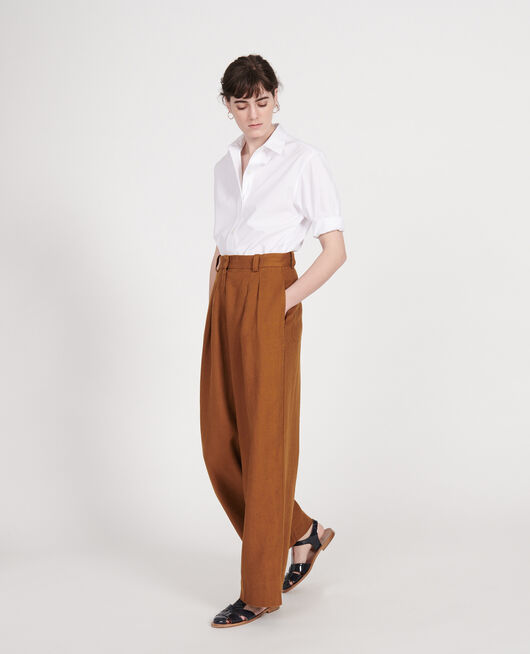 Pantalon large en lin MONKS ROBE