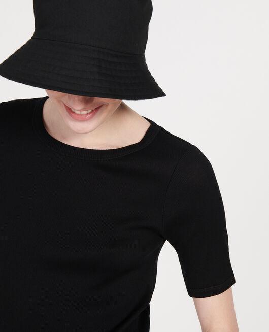T-shirt fines côtes en coton mercerisé BLACK BEAUTY