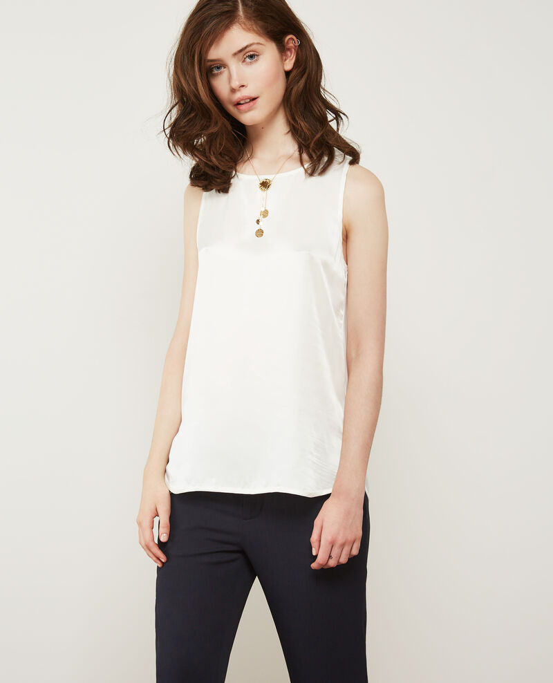 T-shirt bi-matière avec soie Off white Dicton