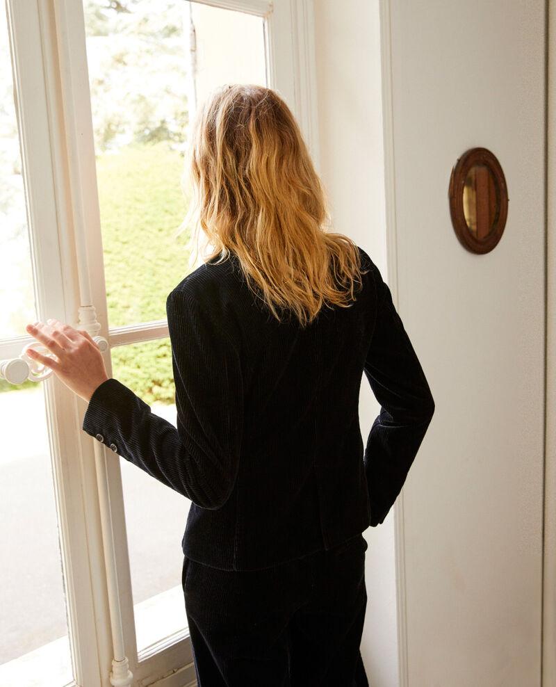 Veste de tailleur en velour côtelé Noir Jolande