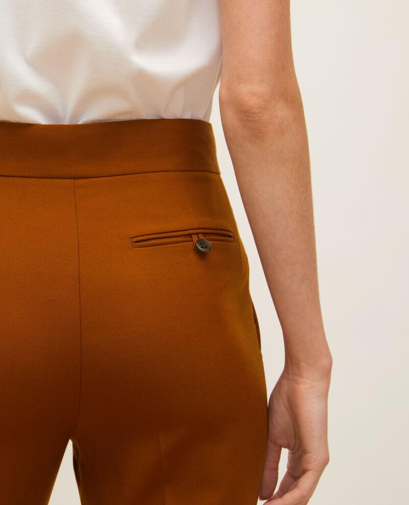 Pantalon droit en laine masculin  Monks robe Lisabelle