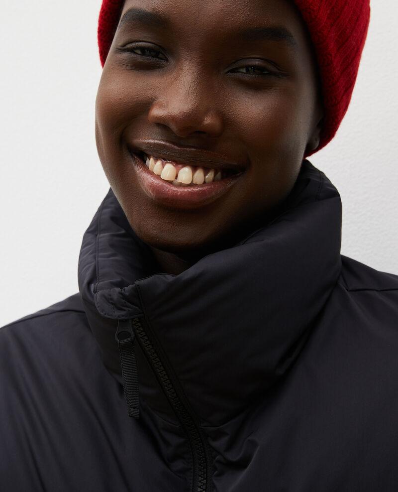 Blouson parka court et ajusté Black beauty Maure
