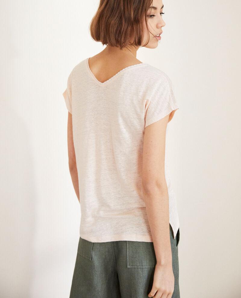 T-shirt en lin Light pink Itlanta