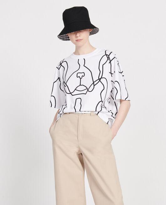 T-shirt imprimé Léon OPTICAL WHITE