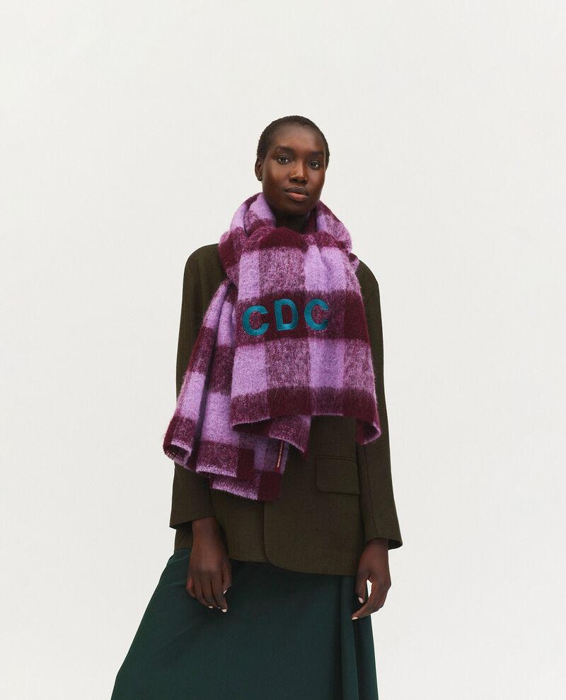 """Maxi écharpe en laine brodée """"CDC"""" Pastel lilac Maxou"""