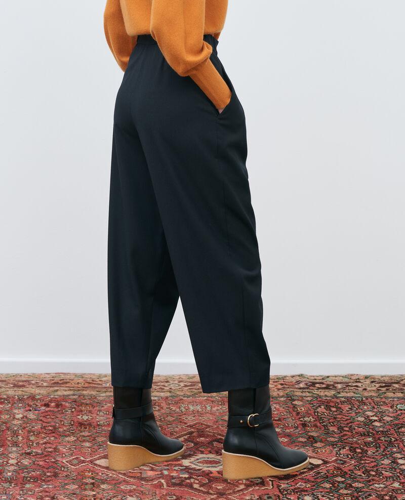 SYDONIE - BALLOON - Pantalon à jambe resserrée Black beauty Paluges