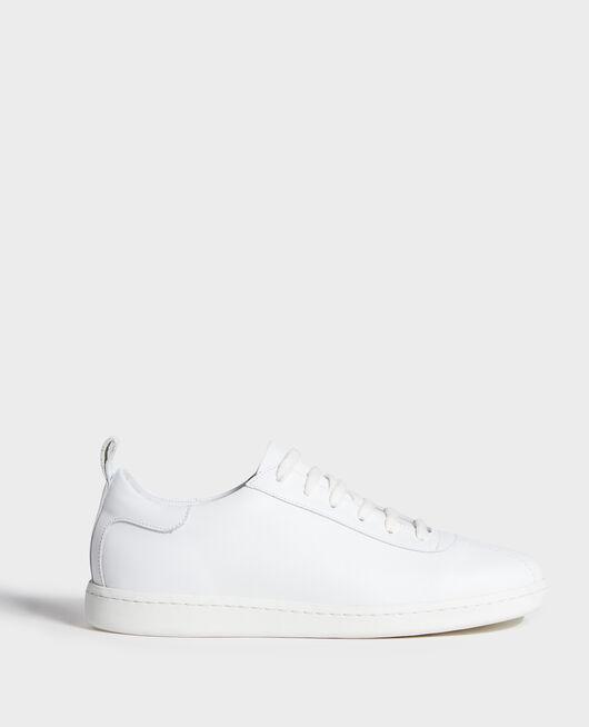 Sneaker en cuir à lacets OPTICAL WHITE