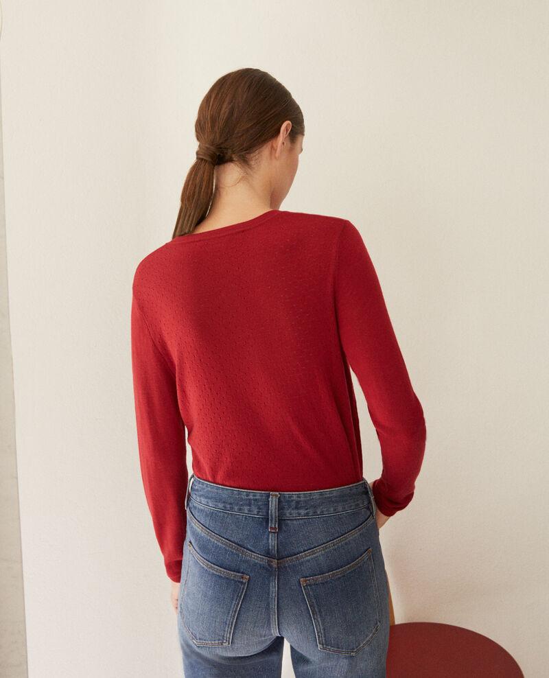 Cardigan en laine mérinos Rio red Godard
