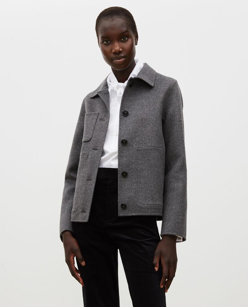 Veste en laine double face Medium grey melange Mauguio