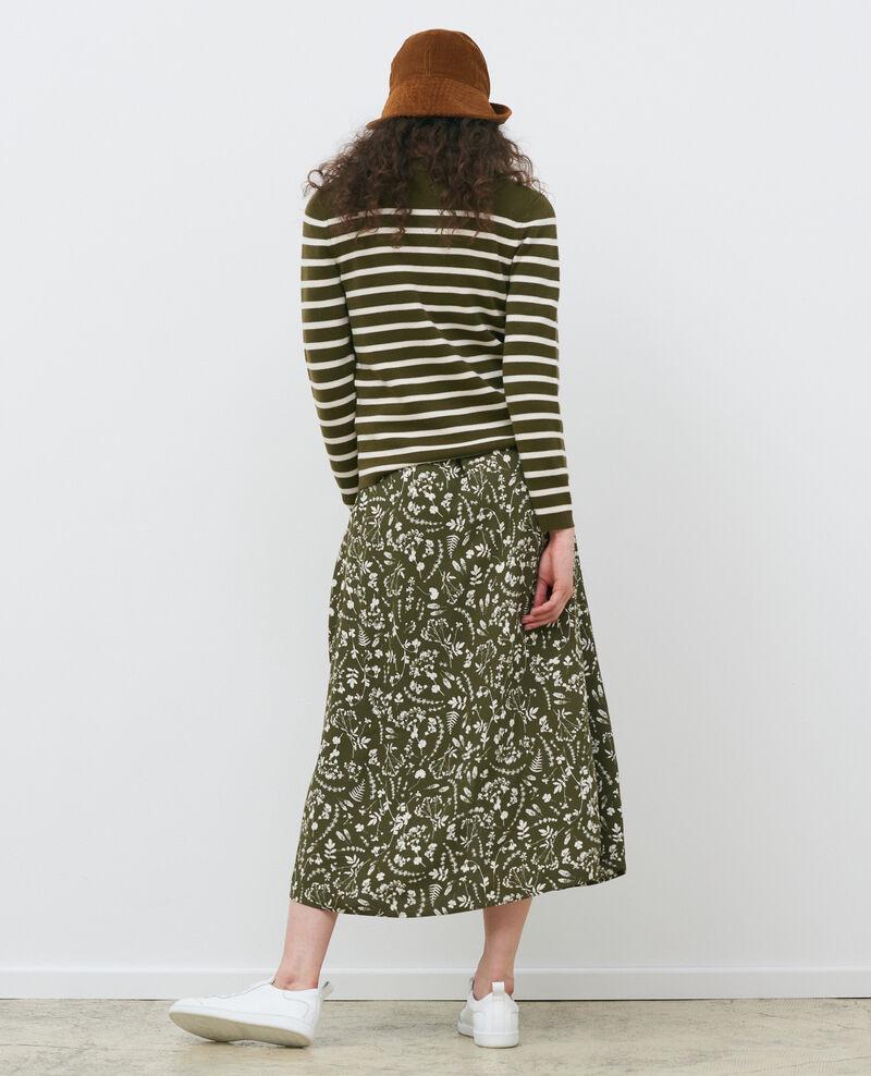 MADDY - Pull marin en laine Stp olive jtst Liselle