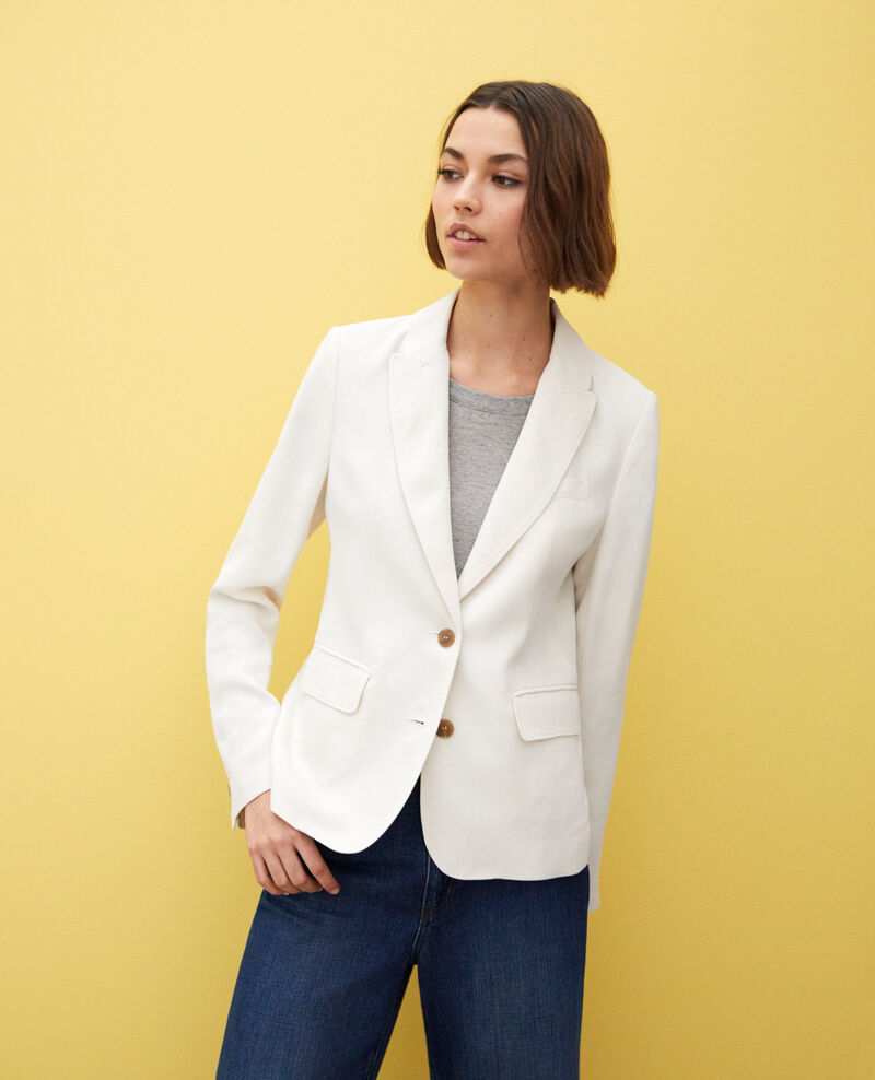 Veste de costume intemporelle Blanc Itonnier