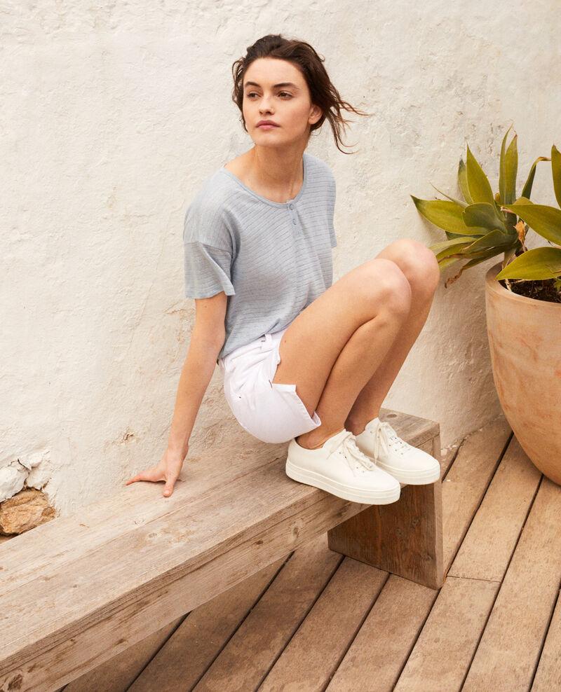 Short en jean Blanc Istruli