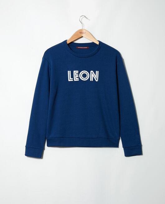 Sweatshirt brodé Léon DK INDIGO/OW