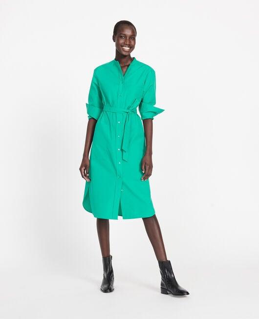 Robe en popeline de coton GOLF GREEN