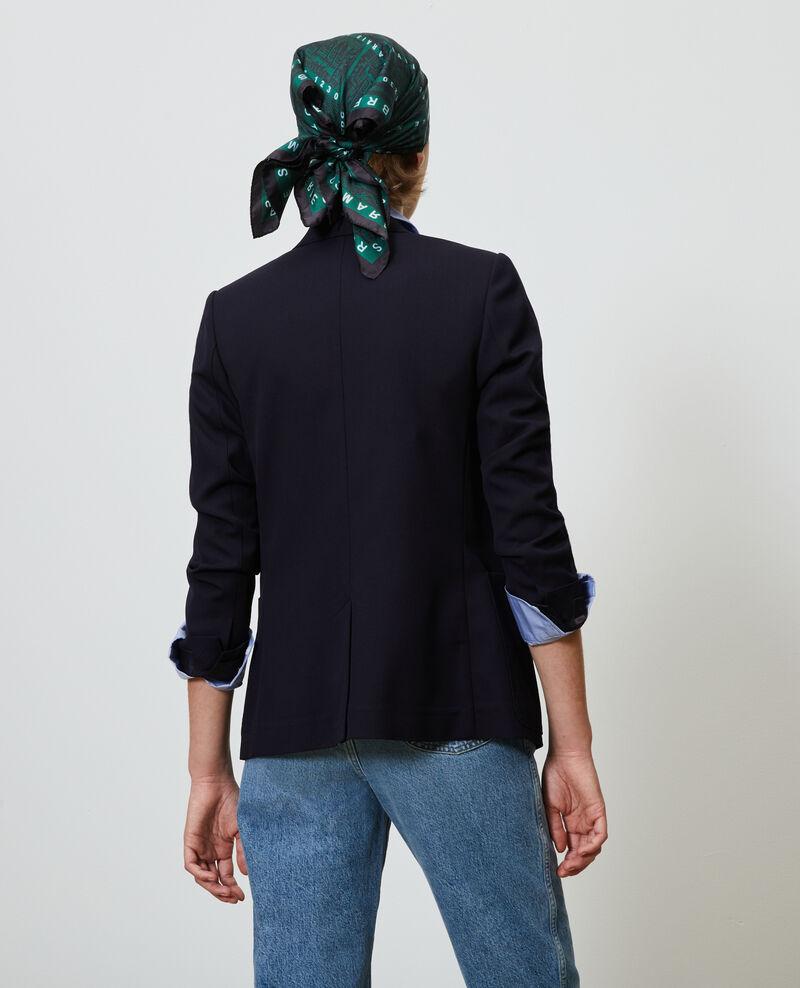 Blazer en laine masculin cintré Night sky Mesanger
