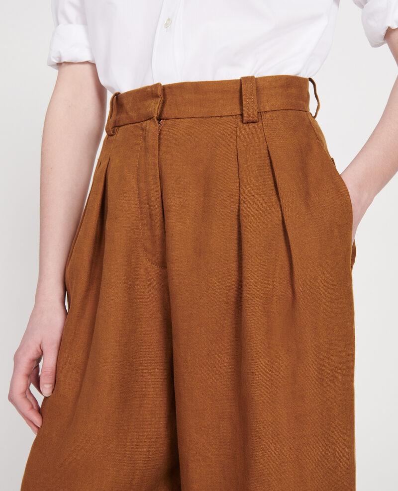 Pantalon large en lin Monks robe Lafare