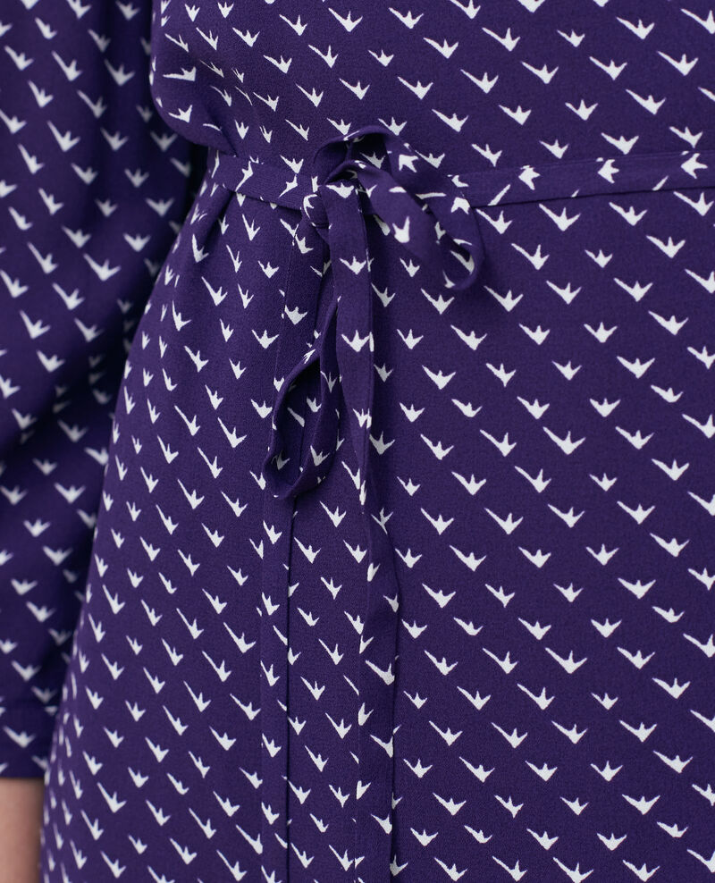 Robe portefeuille imprimée Birdy acai Piremonta