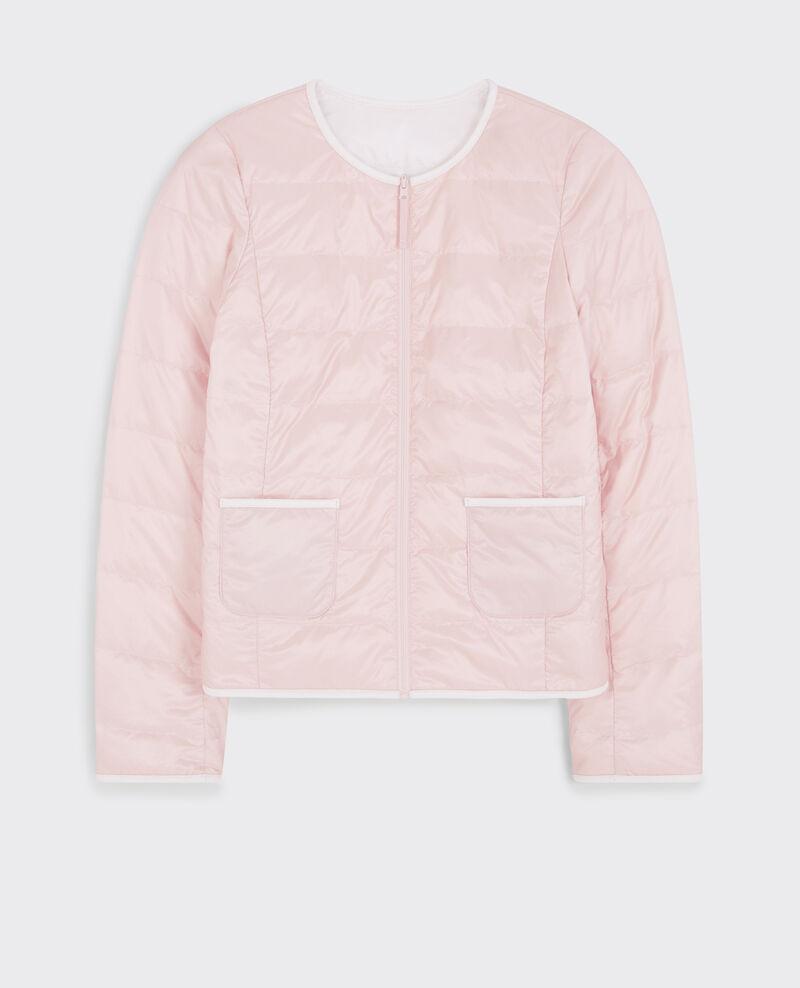 Doudoune réversible pocketable Misty rose/off white Calao