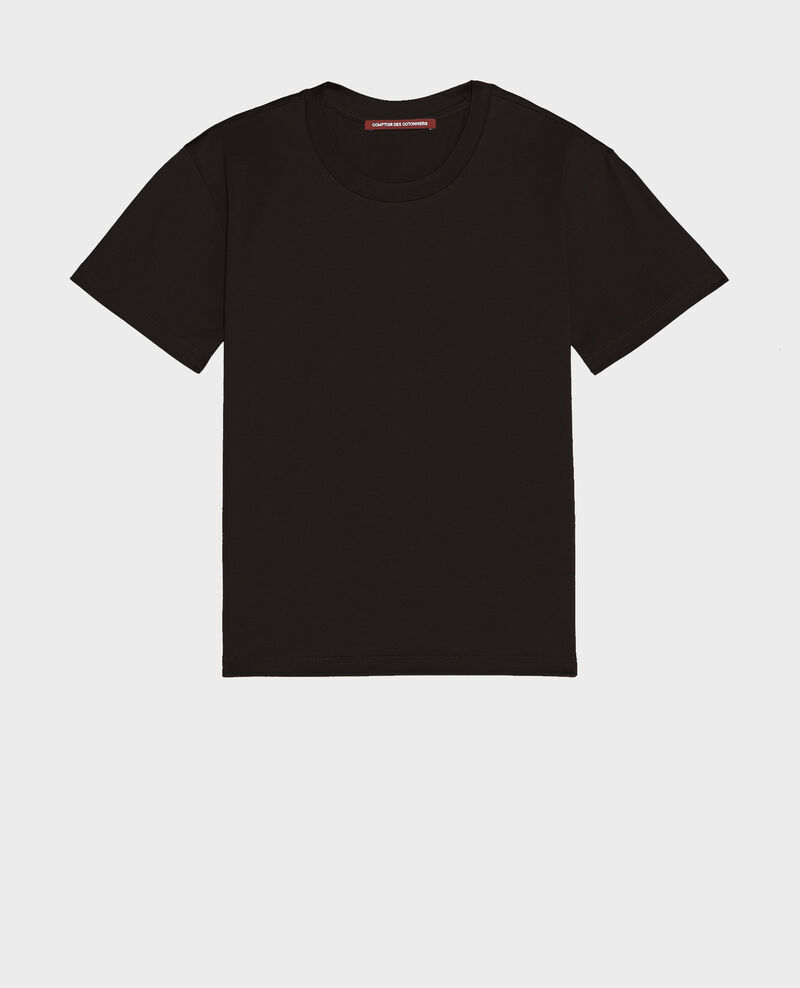 T-shirt coton col rond Black beauty Lirous