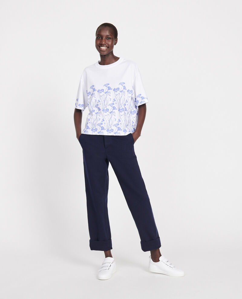 T-shirt imprimé floral Empreinte gardenia jewel Lenoyera