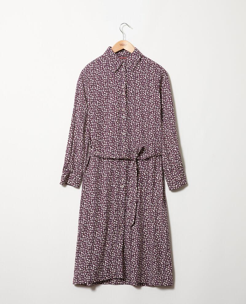 Robe imprimée Leopard potent purple Joleil