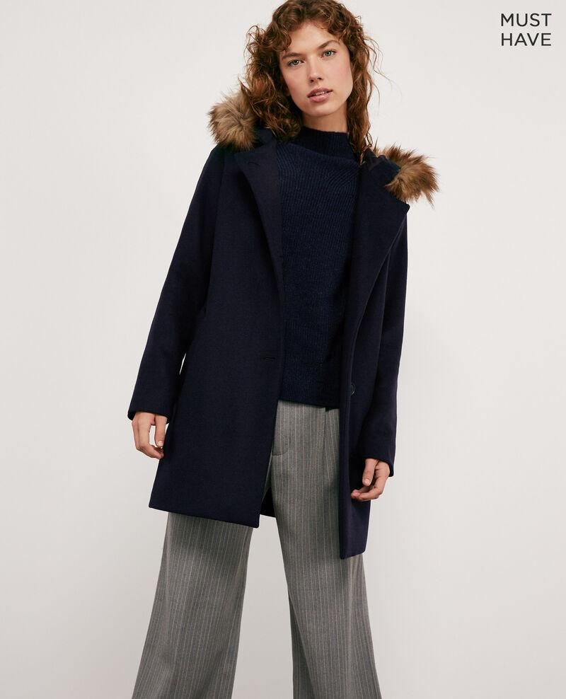 0a8203f472dc Manteau laine femme couleur Navy - Dalexo
